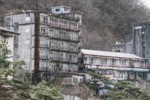 温泉街の廃墟